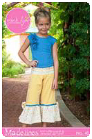 Madeline Knit Pants PDF Pattern - Pink Fig - Sizes 2T thru 12Y