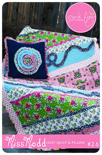 Miss Modd Cozy Quilt and Pillow PDF Pattern - Pink Fig