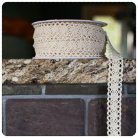 "Cream 1/2"" Crocheted Lace - by the yard"