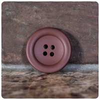 "Brown Round Matte 1½"" Buttons - by the button"
