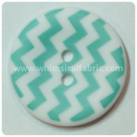 "Aqua Chevron 1"" Buttons - by the button"