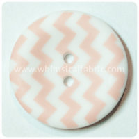 "Baby Pink Chevron 1"" Buttons - by the button"