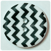 "Black Chevron 1"" Buttons - by the button"