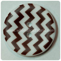 "Brown Chevron 1"" Buttons - by the button"