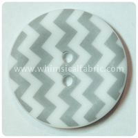 "Grey Chevron 1"" Buttons - by the button"