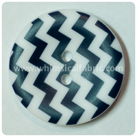 "Navy Chevron 1"" Buttons - by the button"