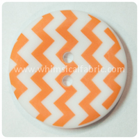 "Orange Chevron 1"" Buttons - by the button"