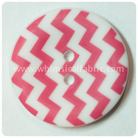 "Raspberry Chevron 1"" Buttons - by the button"