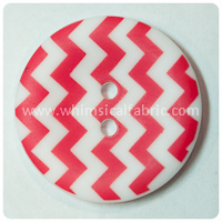 "Red Chevron 1"" Buttons - by the button"