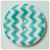 "Teal Chevron 1"" Buttons - by the button"