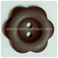 "Brown Flower Matte 1"" Buttons - by the button"