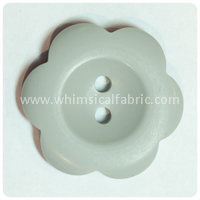 "Grey Flower Matte 1"" Buttons - by the button"