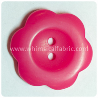 "Hot Pink Flower Matte 1"" Buttons - by the button"