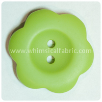 "Lime Flower Matte 1"" Buttons - by the button"