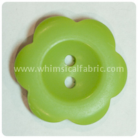 "Olive Flower Matte 1"" Buttons - by the button"