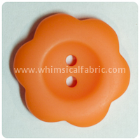 "Orange Flower Matte 1"" Buttons - by the button"