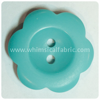 "Teal Flower Matte 1"" Buttons - by the button"