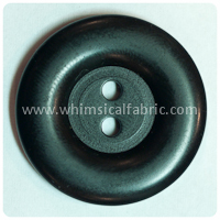 "Black Round Matte 1"" Buttons - by the button"