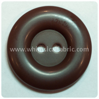"Brown Round Matte 1"" Buttons - by the button"