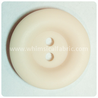 "Cream Round Matte 1"" Buttons - by the button"
