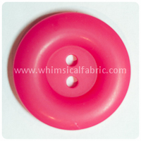 "Hot Pink Round Matte 1"" Buttons - by the button"
