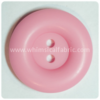 "Medium Pink Round Matte 1"" Buttons - by the button"