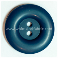 "Navy Round Matte 1"" Buttons - by the button"