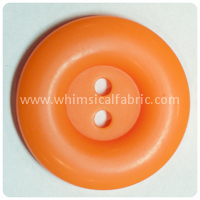"Orange Round Matte 1"" Buttons - by the button"