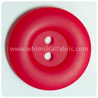 "Red Round Matte 1"" Buttons - by the button"