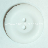 "White Round Matte 1"" Buttons - by the button"