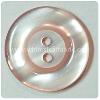 "Baby Pink Round Pearl 1"" Buttons - by the button"