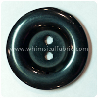 "Black Round Pearl 1"" Buttons - by the button"