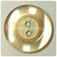 "Yellow Round Pearl 1"" Buttons - by the button"