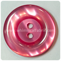 "Hot Pink Round Pearl 1"" Buttons - carded set of 4 buttons"