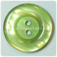 "Lime Round Pearl 1"" Buttons - by the button"