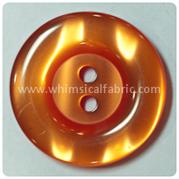 "Orange Round Pearl 1"" Buttons - by the button"