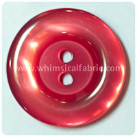 "Red Round Pearl 1"" Buttons - by the button"