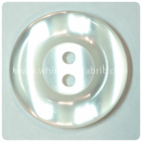 "White Round Pearl 1"" Buttons - carded set of 4 buttons"
