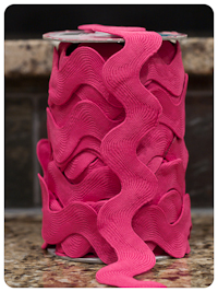 "Hot Pink Jumbo 1.5"" Riley Blake Ric-Rac - by the yard"