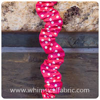 Hot Pink - Riley Blake Gathered Ribbon Ric-Rac - by the yard