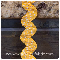 Yellow Gold - Farmhouse Ruffled Ribbon Ric-Rac - by the yard