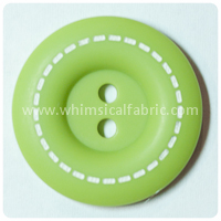 "Lime Stitched 1"" Buttons - by the button"