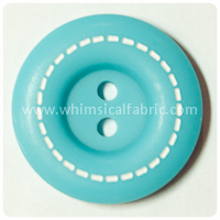 "Teal Stitched 1"" Buttons - carded set of 4 buttons"