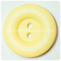 "Yellow Stitched 1"" Buttons - by the button"