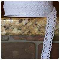 "White 1/2"" Crocheted Lace - by the yard"