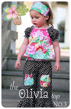 The Olivia Top by Pink Fig - size 6 mo thru 10 yrs