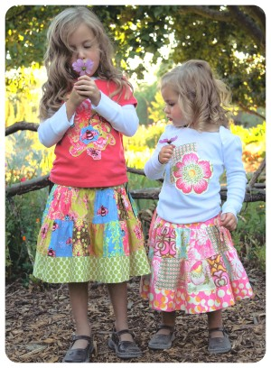 The Patchwork Skirt by Pink Fig - size 6 mo thru 10 yrs
