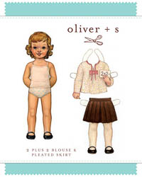 2 + 2 Blouse & Pleated Skirt - PDF Pattern - Oliver+S