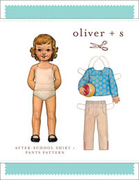 After School Shirt + Pants - PDF Pattern - Oliver+S