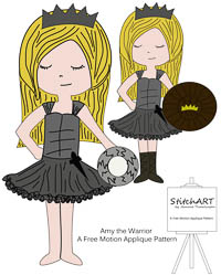 Amy the Warrior Princess - PDF FMA Pattern - StitchART